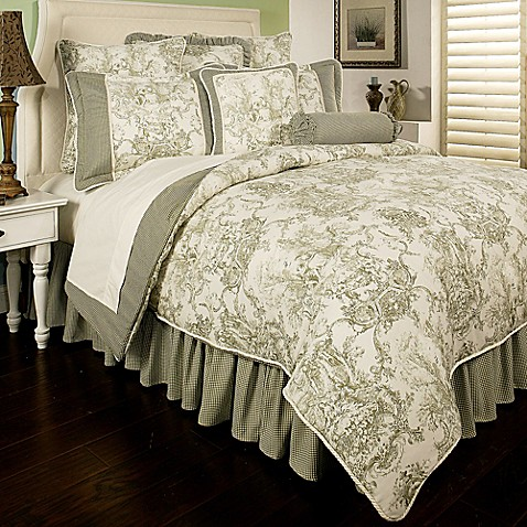 Sherry Kline Country Toile Reversible Comforter Set In