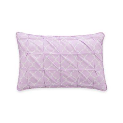Zoe Trellis Oblong Throw Pillow in Purple