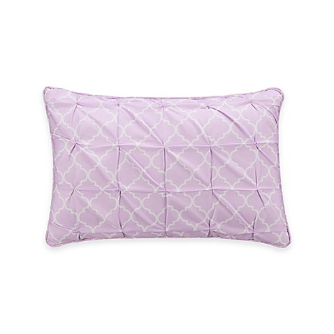 Zoe Trellis Oblong Throw Pillow In Purple Bed Bath Amp Beyond