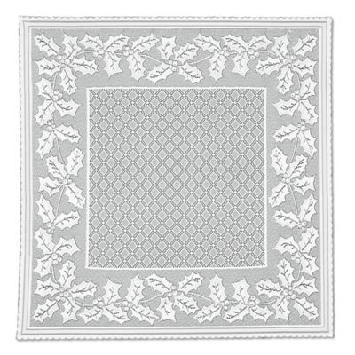 Heritage Lace® Holly Vine 58-Inch Square Table Topper in White