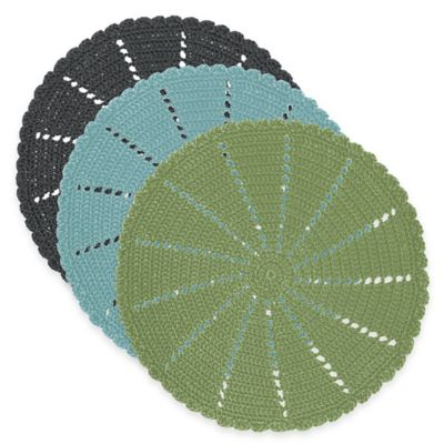 Heritage Lace® Mode Crochet Doily in Charcoal