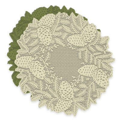 Heritage Lace® Highland Pine Doilies in Ivory (Set of 2)