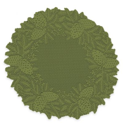 Heritage Lace® Highland Pine Doily in Aspen Green