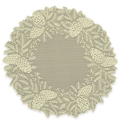 Heritage Lace® Highland Pine Doily in Ivory