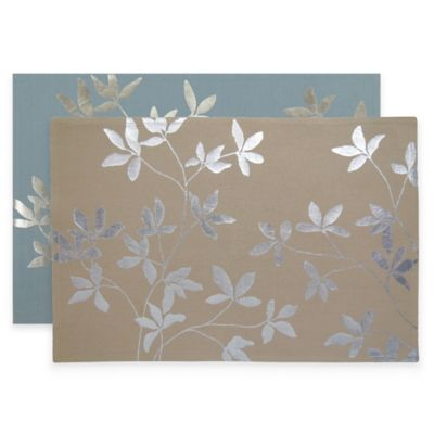 Park B. Smith Foil Leaf Placemats in Linen (Set of 4)