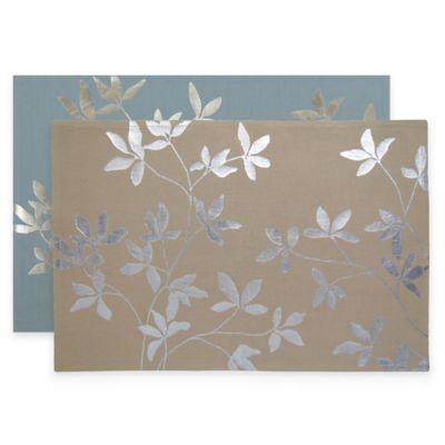 Park B. Smith Foil Leaf Placemats in Aquamarine (Set of 4)