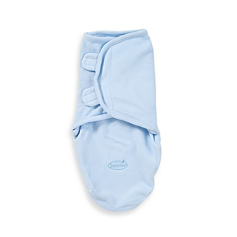 SwaddleMe® Small Microfleece Infant Wrap in Blue