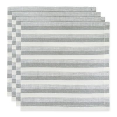 Park B. Smith Leland Napkins in Silver (Set of 4)