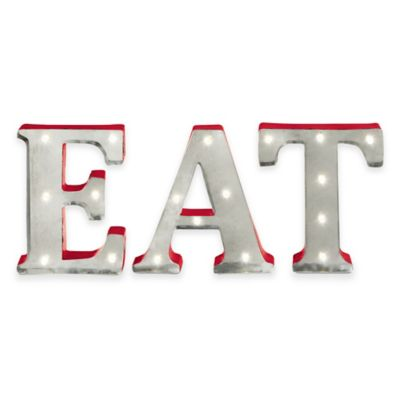 "Loft Living LED Marquee ""Eat"" Sign"