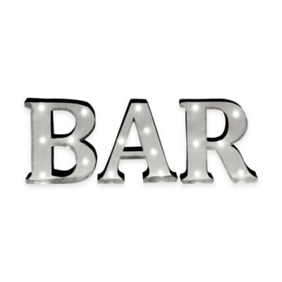 "Loft Living LED Marquee ""Bar"" Sign"