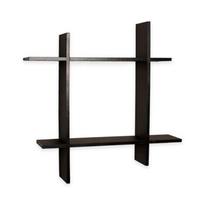 Danya B™ Asymmetric Square Floating Shelf in Laminated Black