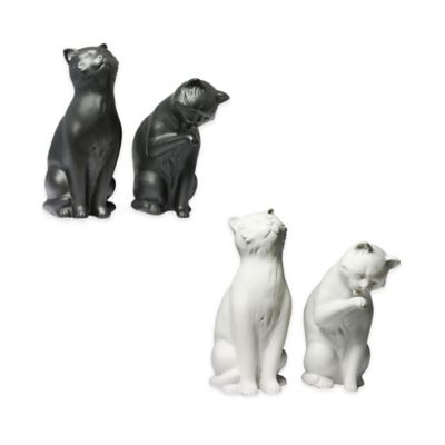 Danya B™ Sitting Cat Bookends in White (Set of 2)