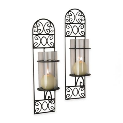 Danya B™ Filigree Metal Wall Sconces (Set of 2)
