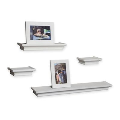 Danya B™ 6-Piece Cornice Shelves and Frames Set in White