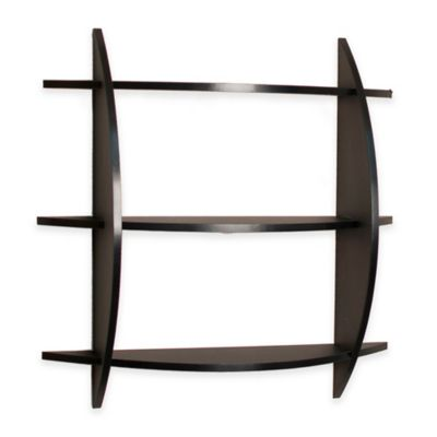 Danya B™ Three Tier Half Moon Shelf Unit in Black