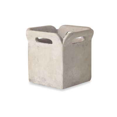 Brown Bag Cement Planter