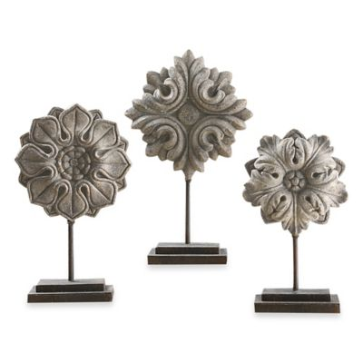 Uttermost Alarik Aged Ivory Florals (Set of 3)