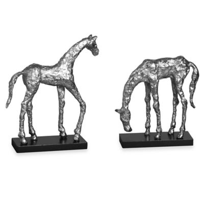Uttermost Let's Graze Horse Statues (Set of 2)