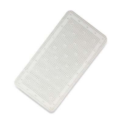 White Cushioned Bath Mat by Ginsey