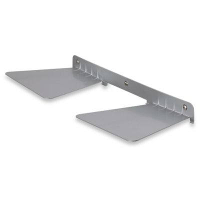 Umbra Concealed 30 lb. Double Floating Shelf in Nickel