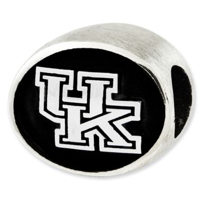 Sterling Silver Collegiate University of Kentucky Antiqued Charm Bead