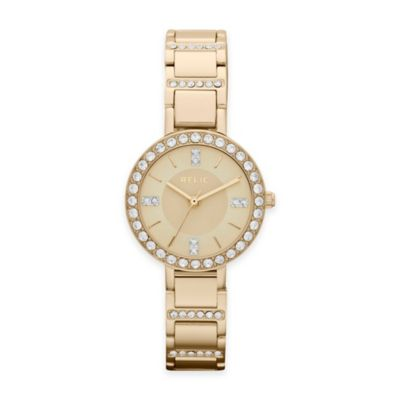 Gold Crystal-Accented Watch