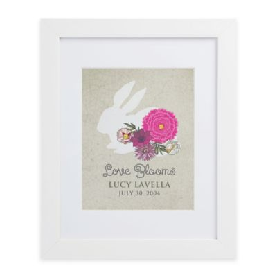 Love Blooms Framed Wall Print