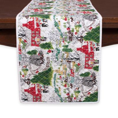 Winter Village Table Runner