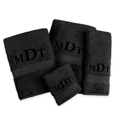 Monogrammed Hand Towels for Bathroom