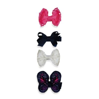 So'Dorable 4-Piece Butterfly and Bow Hair Clip Set