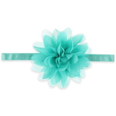 Capelli® New York Large Chiffon Flower Headwrap in Turquoise
