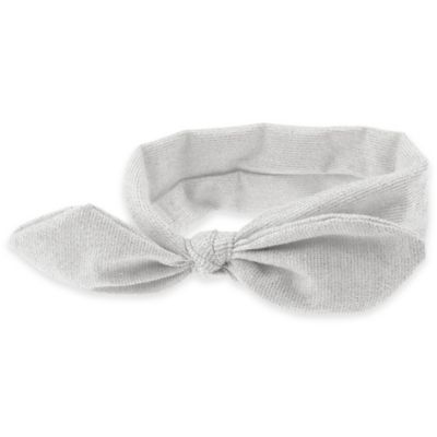 Capelli New York Infant Knot Front Headwrap in Metallic Silver