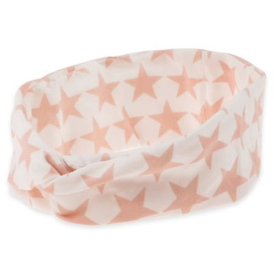 Capelli New York Infant Tubular Jersey Headwrap in Pink Star Print