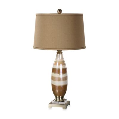Uttermost Albiolo Iridescent Ivory Ceramic Table Lamp