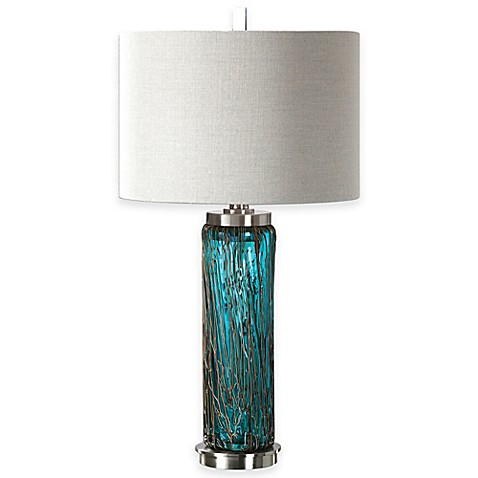 uttermost almanzora brushed nickel table lamp www bedbathandbeyond. Black Bedroom Furniture Sets. Home Design Ideas