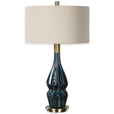 Uttermost Prussian Deep Blue Ceramic Table Lamp
