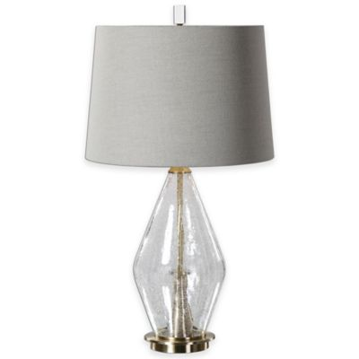 Uttermost Spezzano Clear Glass Table Lamp