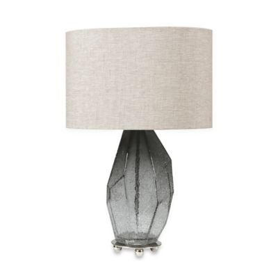 Uttermost Stazzona Smoke Grey Glass Table Lamp
