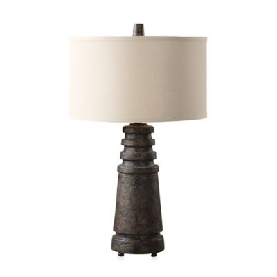 Uttermost Topeka Distressed Rust Brown Table Lamp