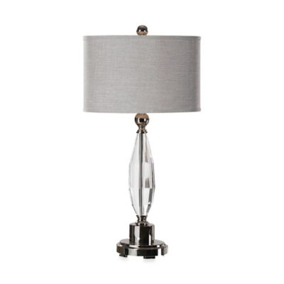 Uttermost Torlino Polished Nickel Crystal Table Lamp