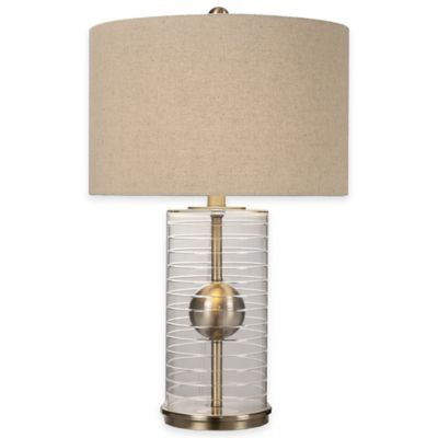 Uttermost Tupelo Clear Cylinder Table Lamp
