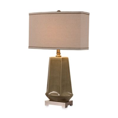 Uttermost Valbona Rust Grey Ceramic Table Lamp