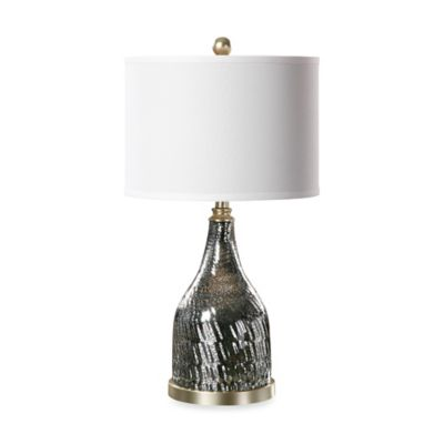 Uttermost Varesino Mercury Glass Lamp in Charcoal