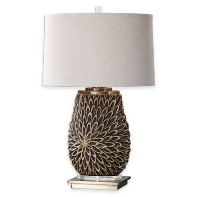 Uttermost Verzino Table Lamp in Beige/Dark Rust