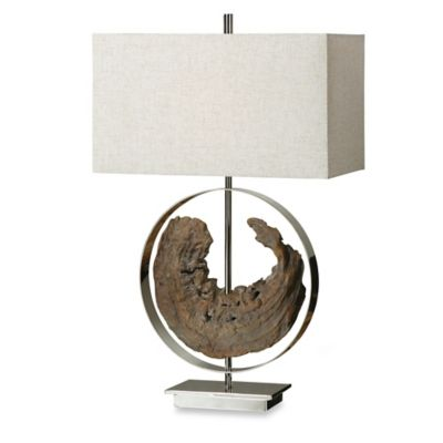 Uttermost Ambler Driftwood Polished Nickel Table Lamp