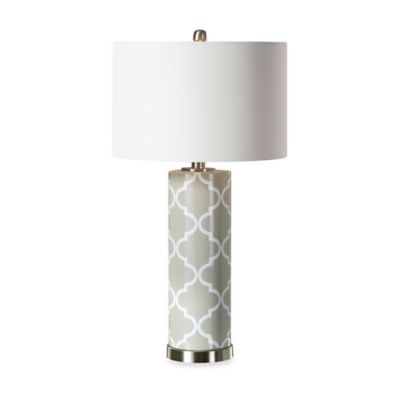 Uttermost Anzano Glass Table Lamp in Grey