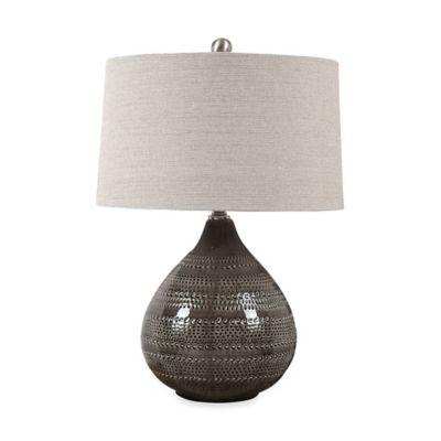 Uttermost Batova Smoke Grey Table Lamp