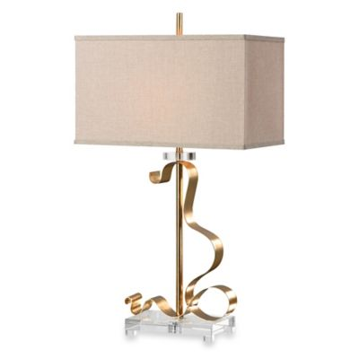 Uttermost Camarena Gold Leaf Table Lamp