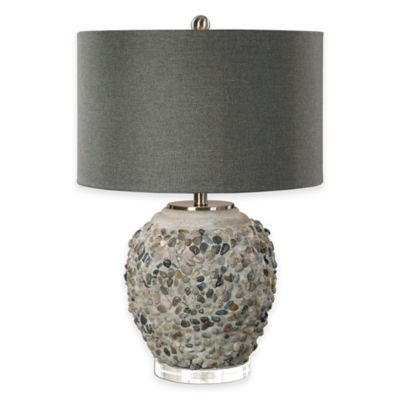 Uttermost Carrabelle Brushed Nickel Stone Table Lamp