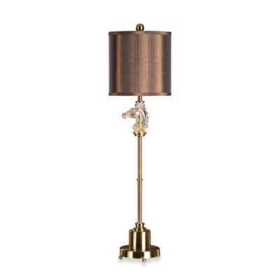 Uttermost Cavalier Brushed Brass Buffet Lamp